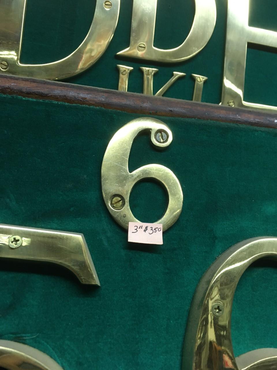 brass number 8