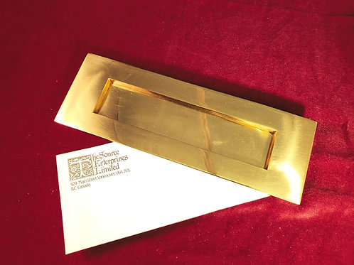 Brass Letter Plate 225A