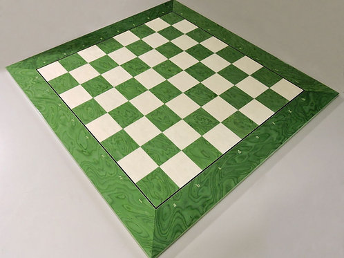 Large Teal Chess Board with Coordinates