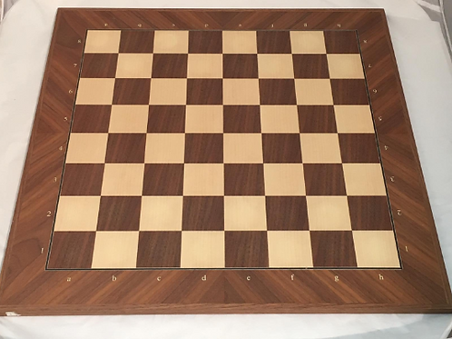 Walnut and Maple Wooden Tournament Chess Board