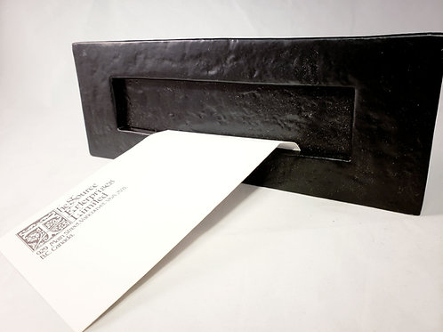 Mailbox Large Wrought Iron Letter Flat