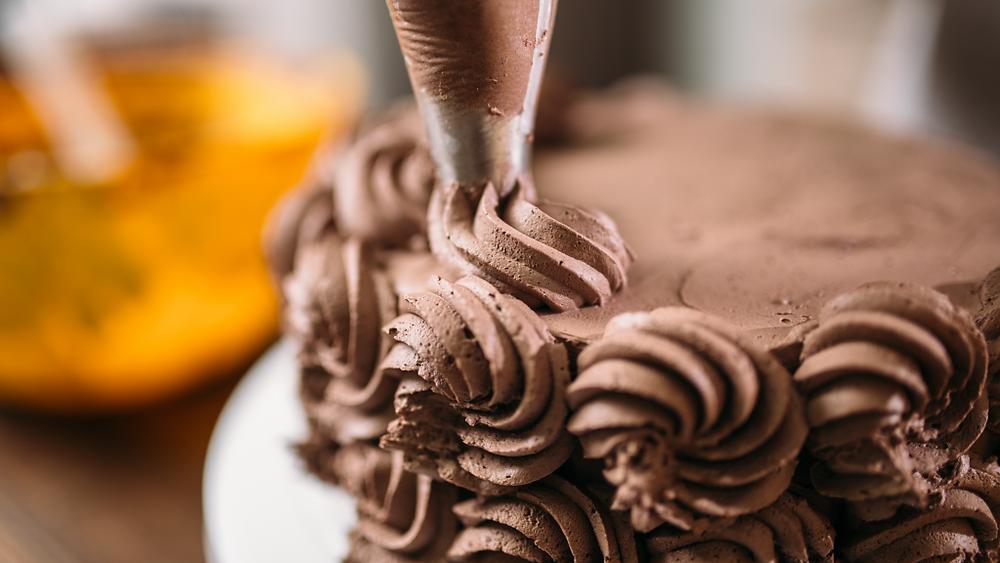 Making of chocolate cake
