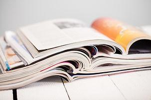 Stapel von Zeitschriften
