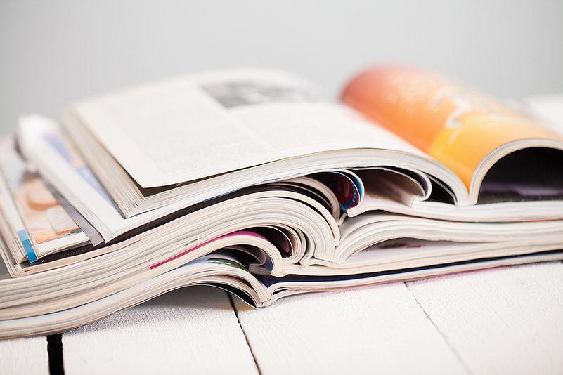 雜誌的堆棧