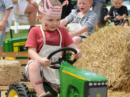 Iowa State Fair: Little Hands LEARNING on the Farm