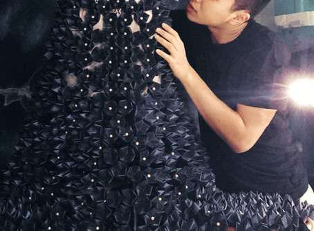 Clothes Made out of 2000 Paper Origamis