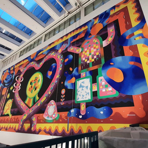 """""""Motherboard"""" Singapore's Largest Indoor Shopping Mall Mural @GR.ID"""