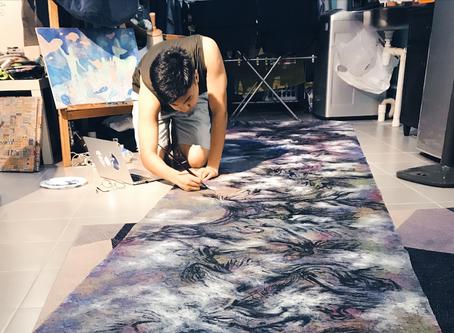 5 Meter Painting At Work