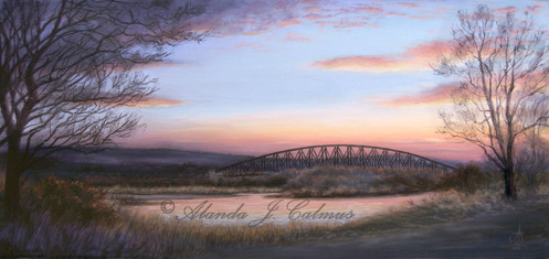 Garmouth Viaduct at sunset