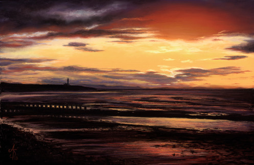 Sunset over Lossie Lighthouse