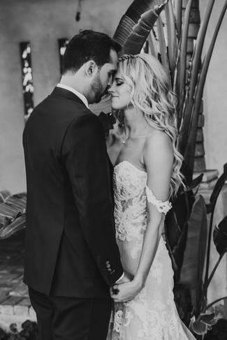 Beautiful bride and groom on their wedding day in Arizona. Christina J Photography.