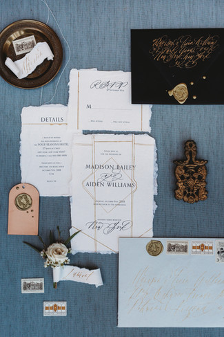 A beuatiful flatlay helps document meaningful details from your wedding day. Christina J Photography in Arizona