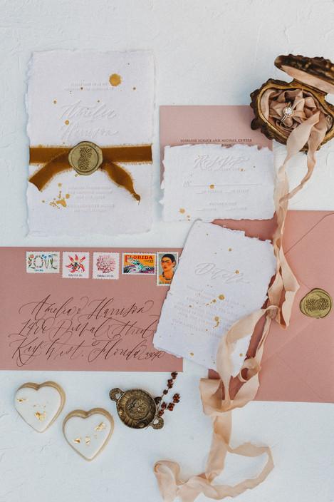 wedding detail flatlay. Christina J Photography.
