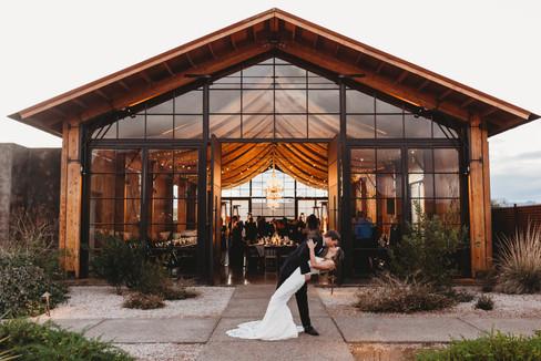 Arizona wedding photographer. Bride and groom at desert wedding in Arizona. The paseo wedding venue