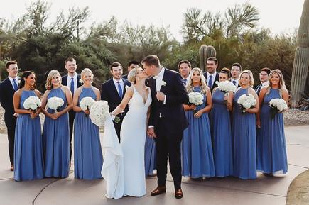 bridal party at Arizona wedding. Christina J Photography.