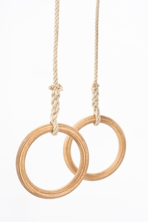 Gymnastic Rings (huile de teck naturelle)