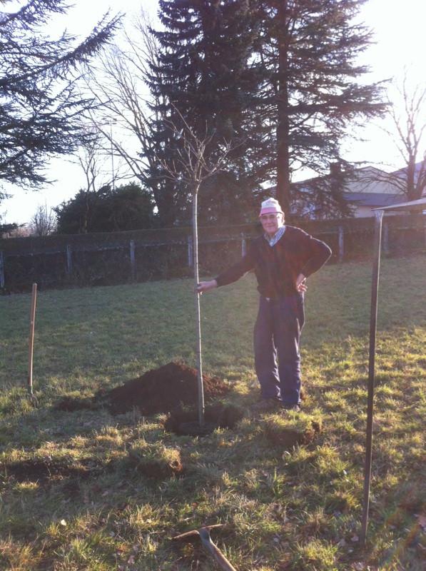 La plantation de cet arbre est un symbole car elle représente pour nous le premier acte de notre futur jardin.
