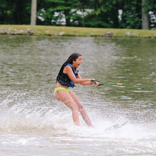 Water-skiing, wake-boarding, knee-boarding, tubing