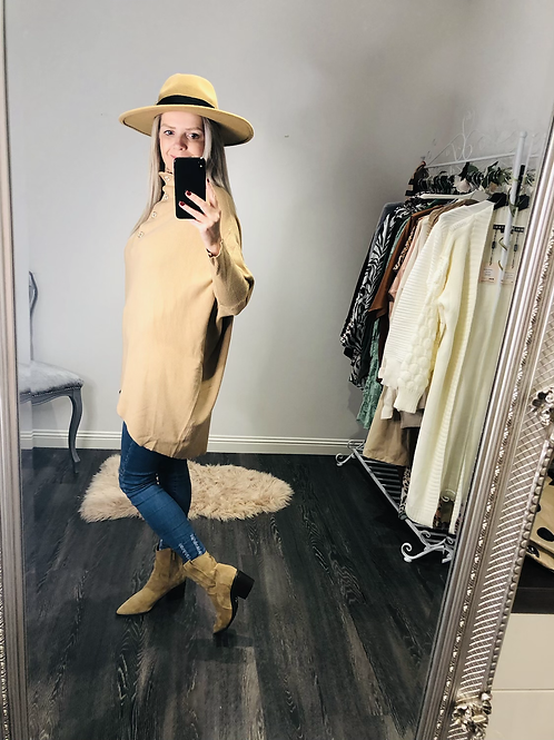 Zara oversized  polo neck jumper
