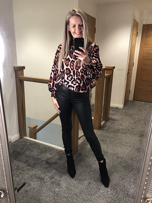 Anna Leopard print top