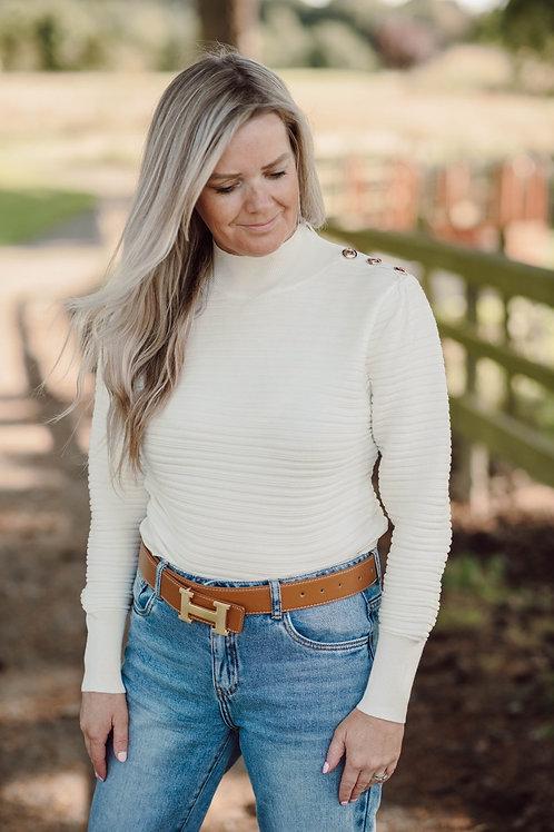 Winter white knit