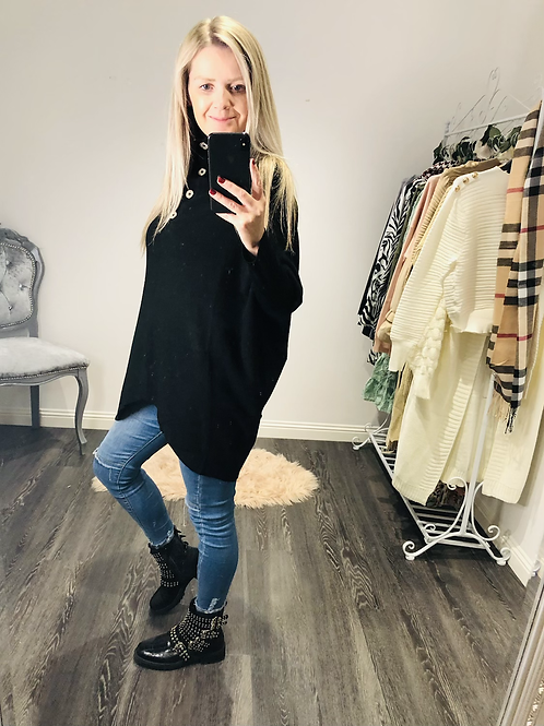 Zara oversized polo jumper