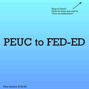 PEUC to FED-ED