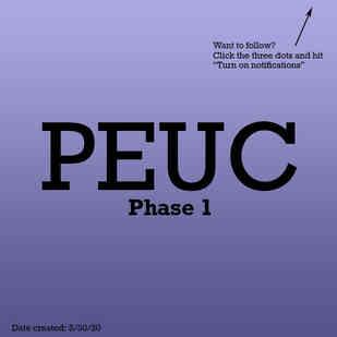 PEUC Phase 1