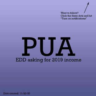 PUA 2019 income