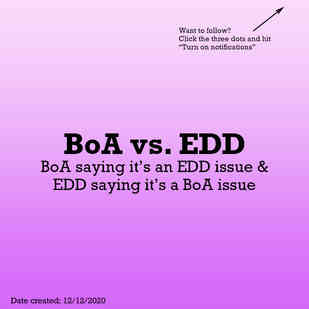 Bank of America vs. EDD
