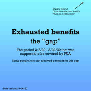 """Exhausted benefits the """"gap"""""""