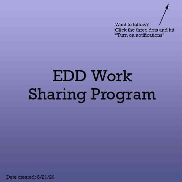 EDD Work Sharing Program