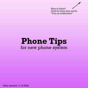 Phone tips