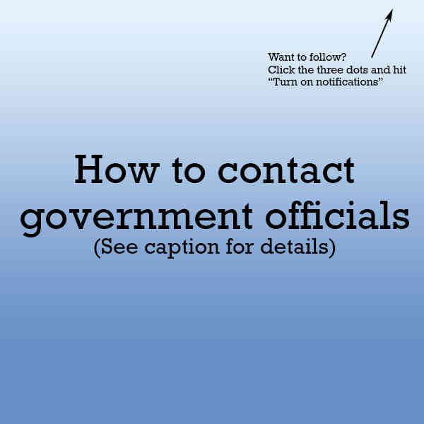 How to contact government officials