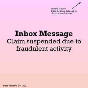 Claim suspended