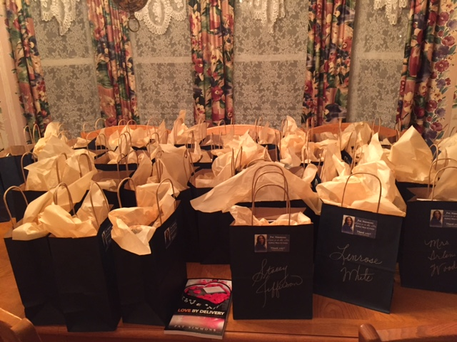More than 40 gift bags ready to go