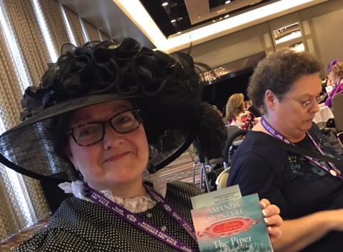Author Amanda McIntyre in costume