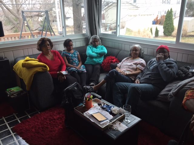 Tyrone's sisters, mom, niece