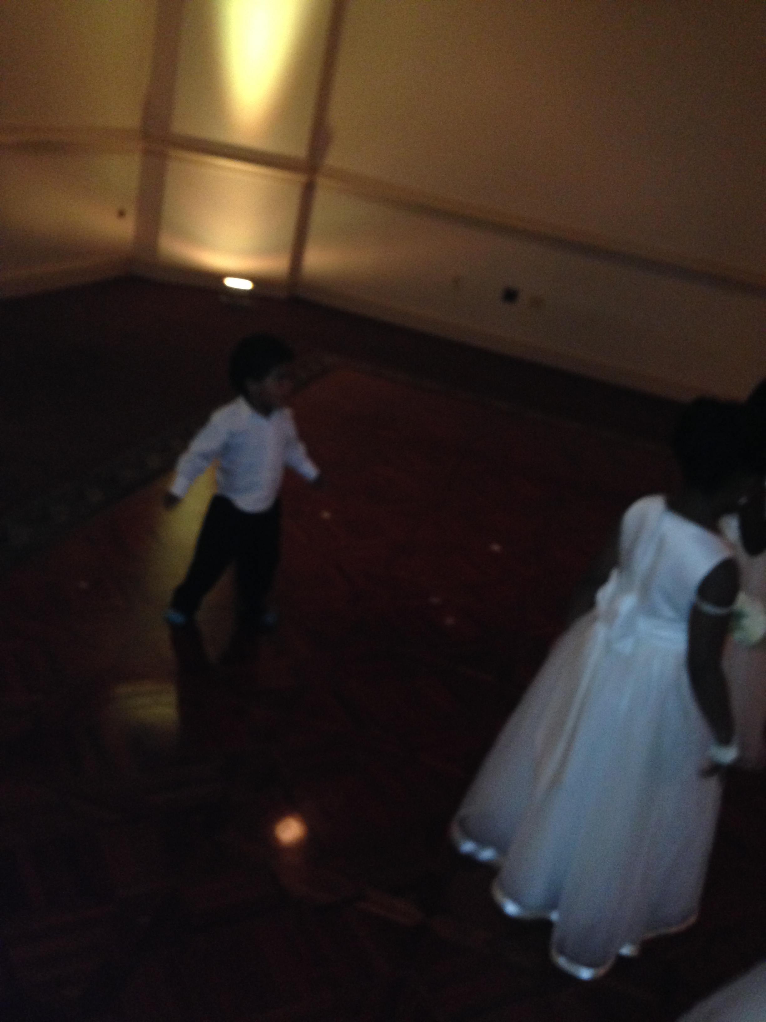 Little James on the dance floor