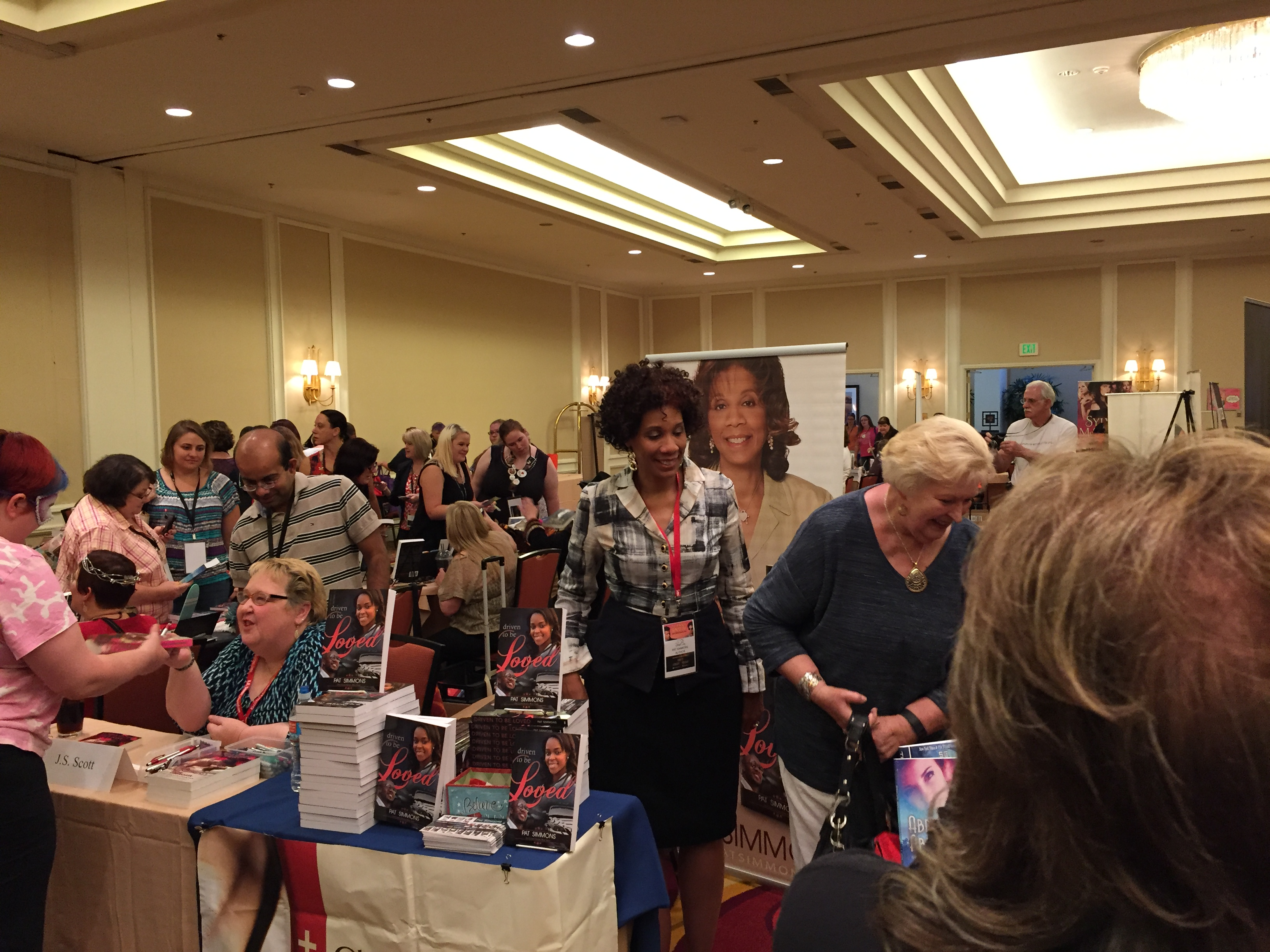 Author signing at Romcon