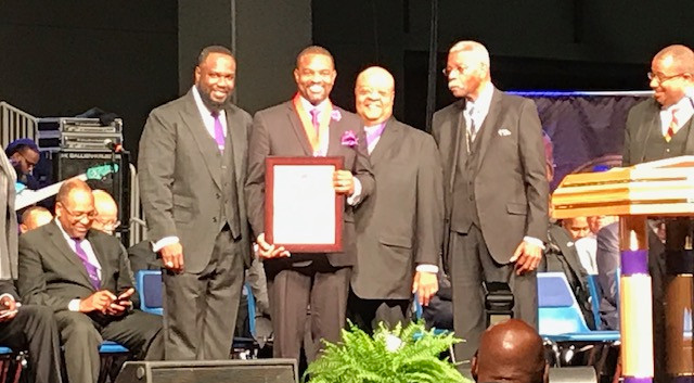 astor Johnson recognized at COGIC