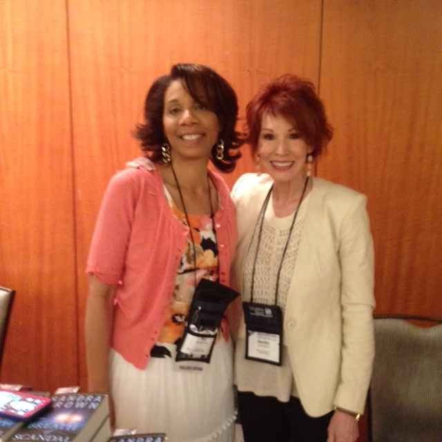 Me and author Sandra Brown