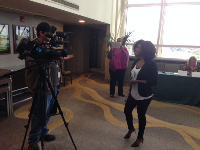 TV interview on site