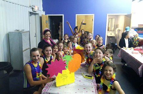 kids birthday parties, gymnastics parties