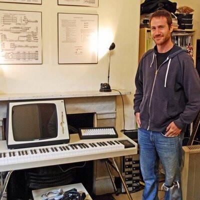 2011 in my Sydney studio beta testing new Fairlight CMI-30A for Peter Vogel