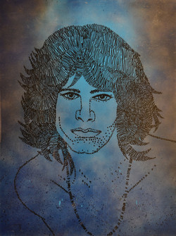 Lee Jim Morrison on paper 22x30