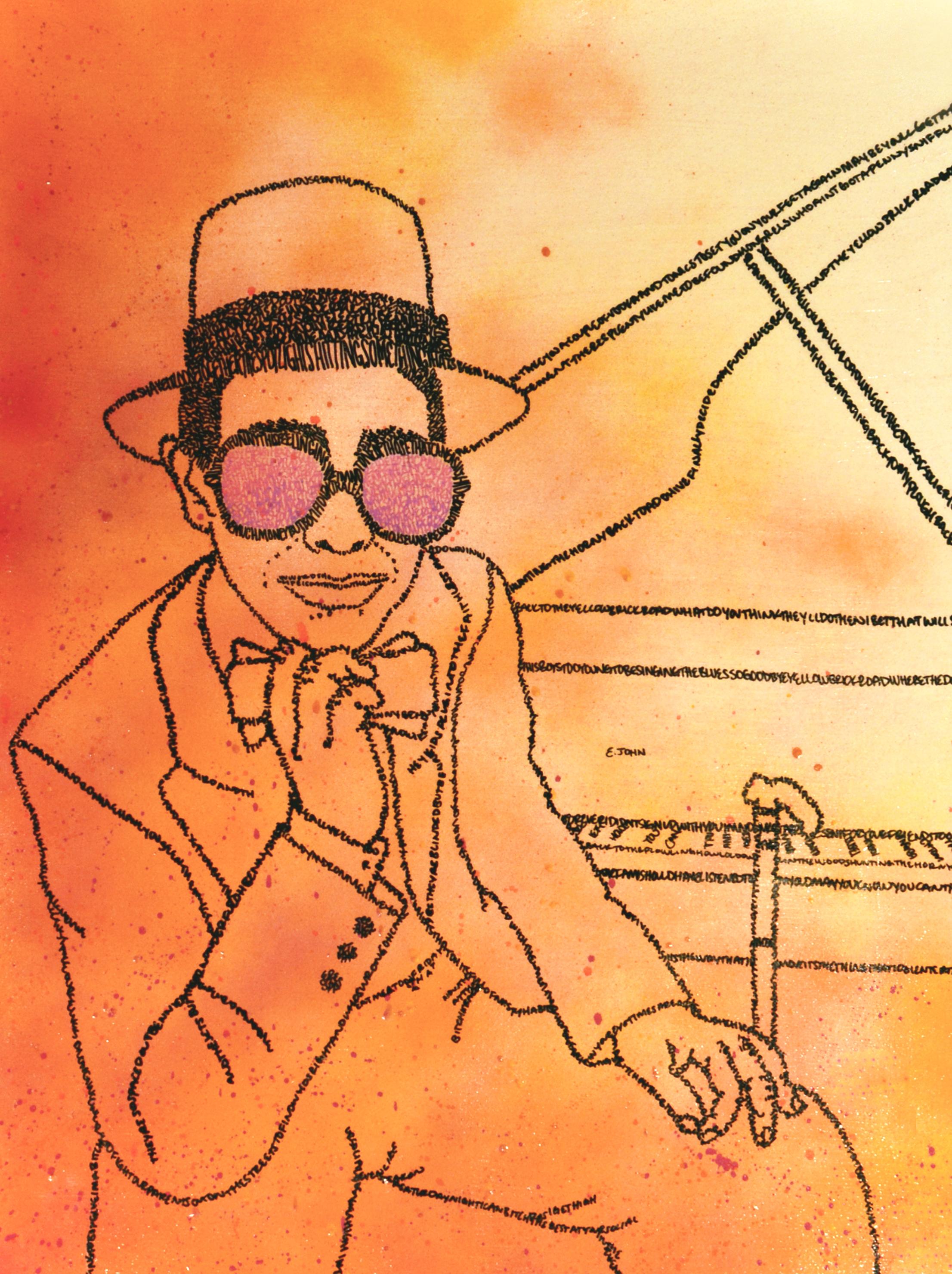 Lee Elton John 2 on paper 22x30