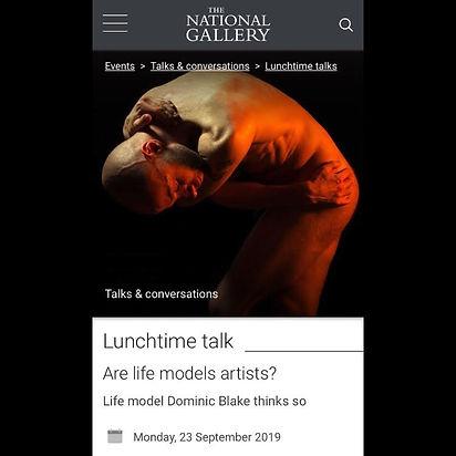 Nationa Gallery, London, Dominic Blake, Life Model, Artist