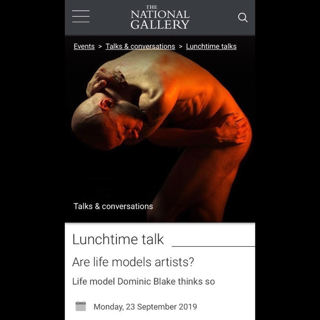 Are Life Models Artists? | The National Gallery | 23.09.2019