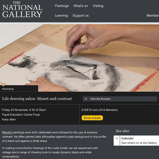 National Gallery:  'Manet and contrast'.  Life Drawing session that I worked within, led by art historian Karly Allen.